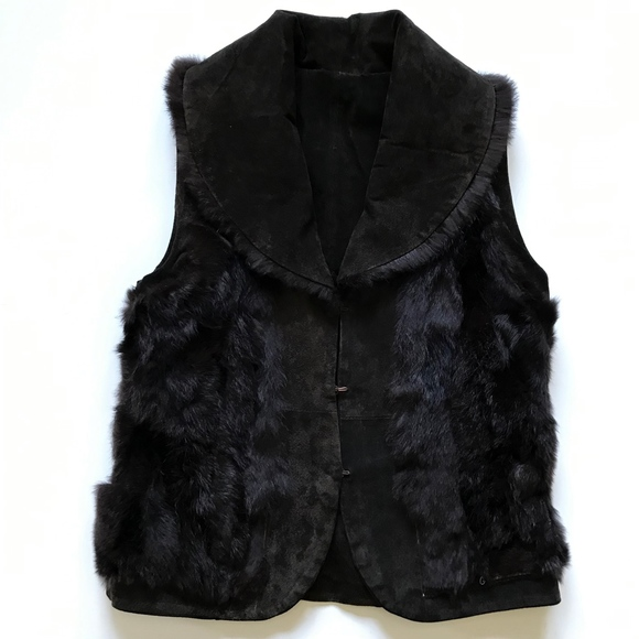 Cejon Jackets & Blazers - Cejon Reversible Vest Fur Leather Medium Brown M
